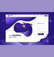 login form landing page website template design vector image vector image