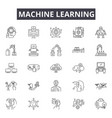 machine learning system line icons signs vector image vector image