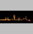 malmo light streak skyline vector image vector image