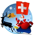 Merry Christmas Switzerland vector image vector image