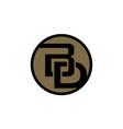 modern logo solution letter b d vector image vector image