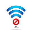 no internet connection sign vector image vector image