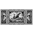 old scandinavian design norse warrior berserker vector image vector image