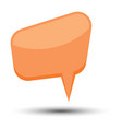 orange cartoon comic balloon speech bubble vector image