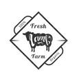 organic fresh farm meat premium quality retro vector image vector image