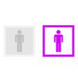 photo human icon vector image vector image