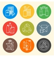 recycle waste segregation icons vector image vector image