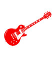red electric guitar vector image