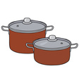Red pots vector image vector image