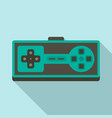 retro gamepad icon flat style vector image vector image