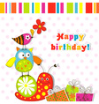 scrapbook birthday greeting card vector image vector image