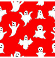 seamless pattern ghost with white eyes on vector image