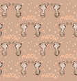 seamless pattern with cute grey mewing cats vector image vector image