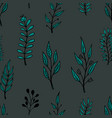 seamless pattern with doodle style floral vector image