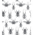 seamless pattern with hand drawn insects vector image vector image