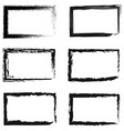 set abstract frames for photos or pictures vector image vector image
