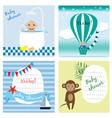 set of baby shower invitation greeting cards vector image vector image