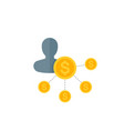 shareholder icon on white flat style vector image vector image