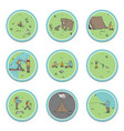 signs about the camping theme bears tent vector image vector image