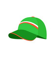 sketch of green cap colorful vector image