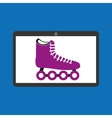 sport laptop app concept roller skate vector image