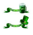 stpatrick s day banner with beer mug vector image