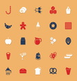 Sweet food classic color icons with shadow vector image