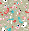texture of different birds vector image
