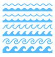 textures water waves vector image