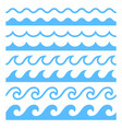textures water waves vector image vector image