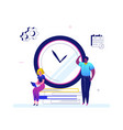 time management - flat design style colorful vector image vector image