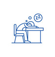 tired at work line icon concept tired at work vector image vector image