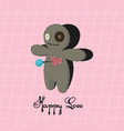 voodoo doll happy love valentines day vector image vector image