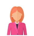 Young Woman Private Avatar Icon vector image vector image