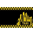 business card with taxi and night city vector image