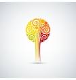 autumn leaves tree icon background vector image