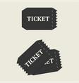 tickets set icon vector image