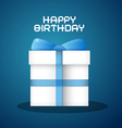 Happy Birthday with Blue Background and Pape vector image