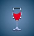 Logo glass of wine vector image