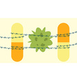 antibiotics bacteria superbug concept vector image vector image