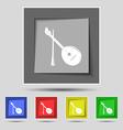 Balalaika icon sign on original five colored vector image