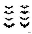 bat black silhouette on white backgro vector image vector image