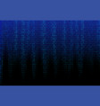 blue binary code texture vector image vector image