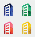 building icon Abstract Triangle vector image vector image