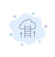 career path career dream success focus blue icon vector image