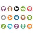 chef hat round button icons vector image vector image