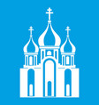 church building icon white vector image
