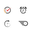 clock icon flat vector image