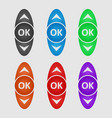 color control buttons vector image vector image