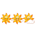 cute suns vector image vector image